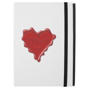 McTiffany Tiffany Aqua Tiffany. Red heart wax seal with name Tiffany iPad Pro Case