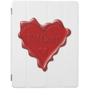 McTiffany Tiffany Aqua Tiffany. Red heart wax seal with name Tiffany iPad Smart Cover