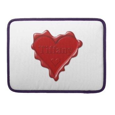 McTiffany Tiffany Aqua Tiffany. Red heart wax seal with name Tiffany MacBook Pro Sleeve