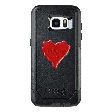 McTiffany Tiffany Aqua Tiffany. Red heart wax seal with name Tiffany OtterBox Samsung Galaxy S7 Edge Case