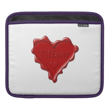 McTiffany Tiffany Aqua Tiffany. Red heart wax seal with name Tiffany Sleeve For iPads