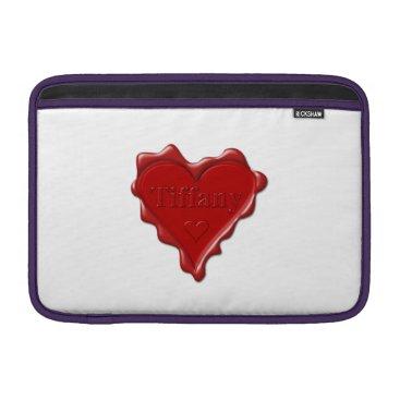 McTiffany Tiffany Aqua Tiffany. Red heart wax seal with name Tiffany Sleeve For MacBook Air
