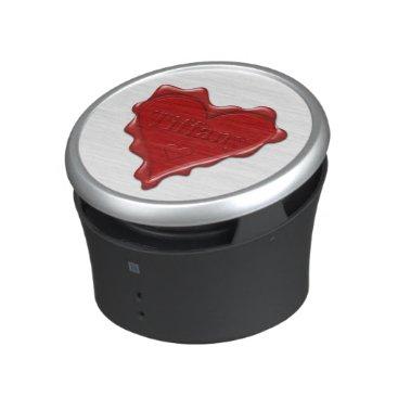 McTiffany Tiffany Aqua Tiffany. Red heart wax seal with name Tiffany Speaker
