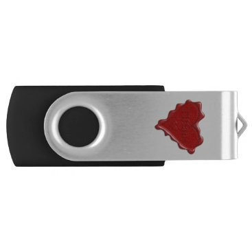 McTiffany Tiffany Aqua Tiffany. Red heart wax seal with name Tiffany USB Flash Drive