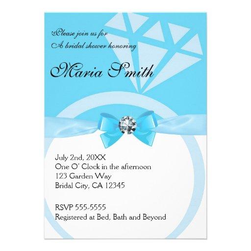 Tiffany's Blue Wedding Bridal Shower Invitations