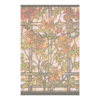 Tiffany Stained Glass Clematis Vine Stationery