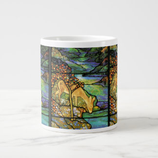 Tiffany Stained Glass Deer Jumbo Mug