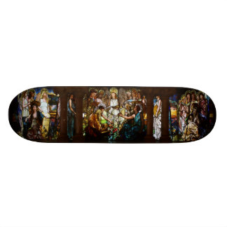 TIFFANY STAINED GLASS -EDUCATION- SKATEBOARD