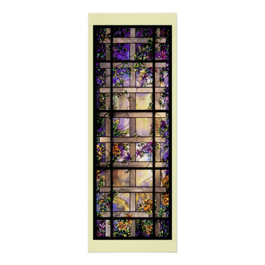 Tiffany Stained Glass Vines Print