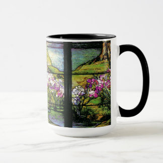 Tiffany Stained Glass Water Garden Mug