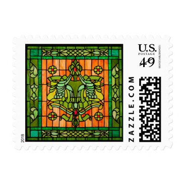 Tiffany Stained Glass Window Postage