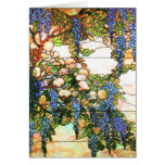 Tiffany Stained Glass Wisteria Flower Art Card