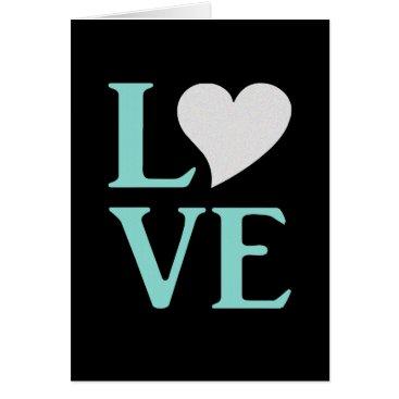 McTiffany Tiffany Aqua Tiffany Teal Blue And Black Love Party Note Cards