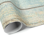 "Tiffany Teal Ocean Beach Champaign Wood Rustic Wrapping Paper<br><div class=""desc"">Minimalism and Elegance 