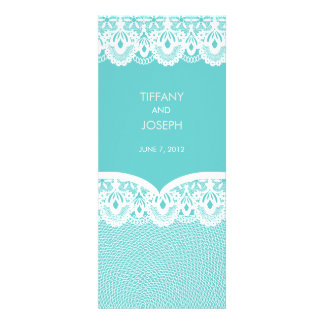 Tiffany Teal White Lace Wedding Invitation