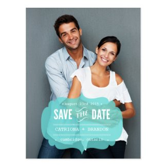 Tiffany Transparent Label | Save the Date Postcard