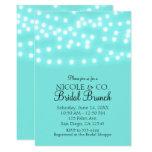 Tiffany Turquoise Blue & String Lights Elegant Card