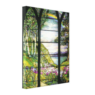 Tiffany Window Wrapped Canvas Gallery Wrapped Canvas