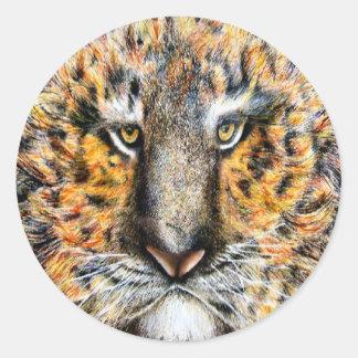 Tig el tigre pegatina redonda
