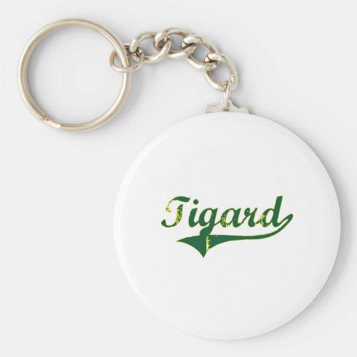 Tigard Oregon City Classic Basic Round Button Keychain