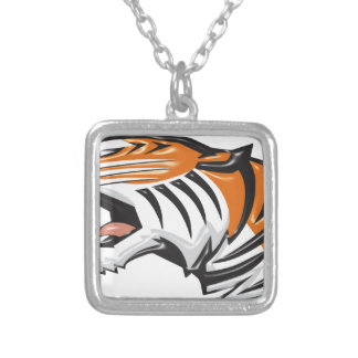 tiger3 silver plated necklace