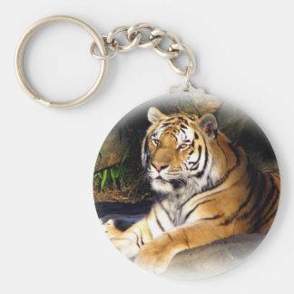 Tiger_1151 Basic Round Button Keychain