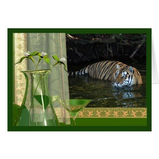 tiger-1-st-patricks-0021 greeting card