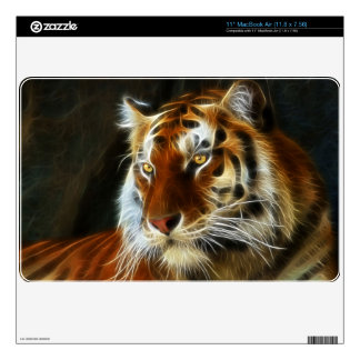 Tiger 3d artworks MacBook decal