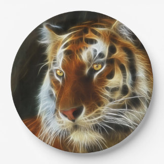 Tiger 3d artworks paper plate