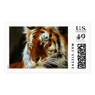 Tiger 3d artworks postage