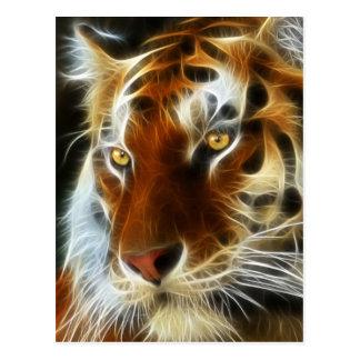 Tiger 3d artworks postcard