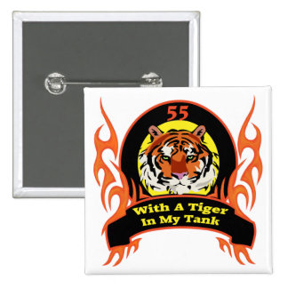 Tiger 55th Birthday Gifts Pinback Button