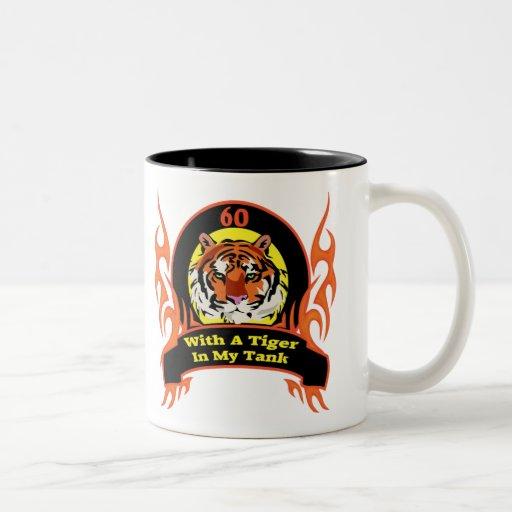 Tiger 60th Birthday Gifts Two-Tone Coffee Mug