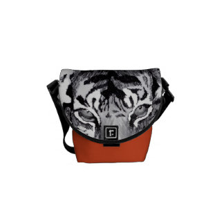 tiger abstract mini Zero messenger bag Courier Bags