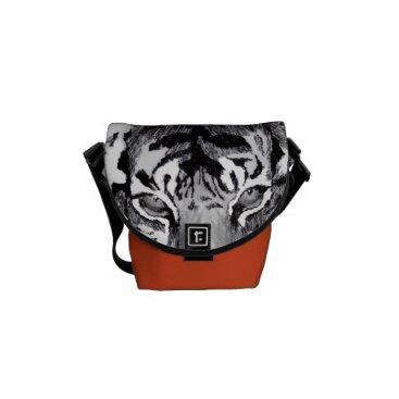 Beach Themed tiger abstract mini Zero messenger bag