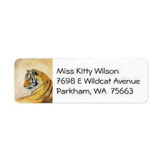 Tiger address label