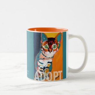 Tiger ADOPT Mug by Ron Burns