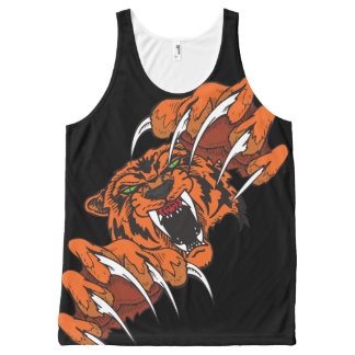 Tiger all over print designs All-Over print tank top