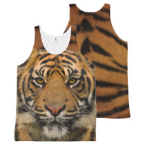 Tiger All-Over-Print Tank Top
