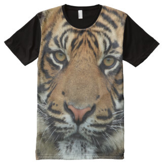 Tiger All-Over Printed Panel T-shirt