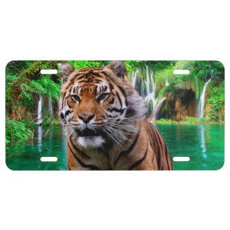Tiger Aluminium License Plate