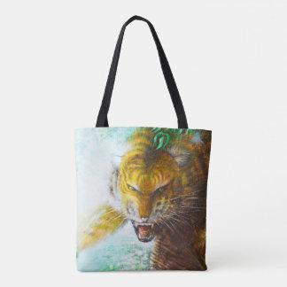 Tiger ambush tote bag