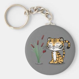 Tiger and a ladybug keychains