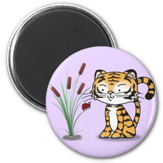 Tiger and a ladybug magnet