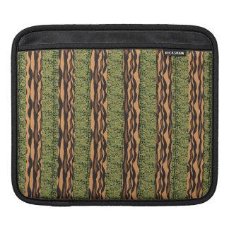 tiger and alligator stripe print iPad sleeves
