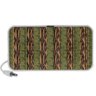 tiger and alligator stripe print notebook speakers