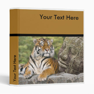 Tiger and Buddhist Temple 3 Ring Binders