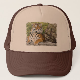 Tiger and Buddhist Temple Trucker Hat