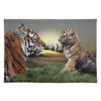 Tiger and Cub American MoJo Placemat Cloth Placemat