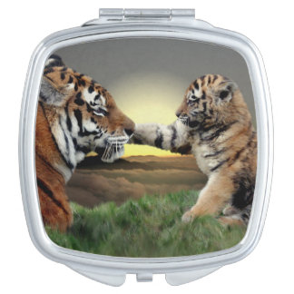 Tiger and Cub Compact Mirror